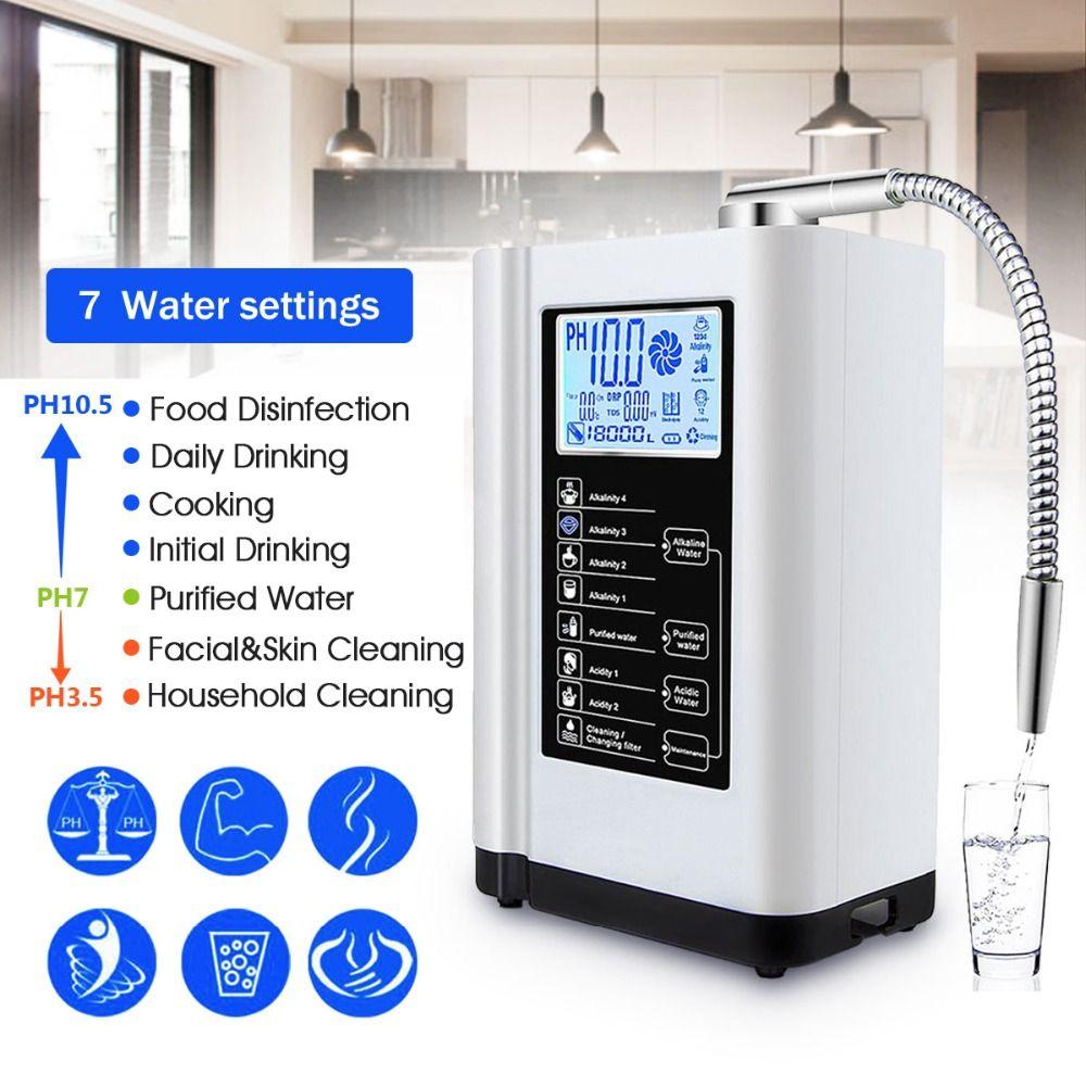 Augienb 6000 ml Wasser Ionisator Luftreiniger Filter LCD-Touch-Control Alkalische Säure Maschine PH 3,5-10,5 Filter Wasseraufbereitung