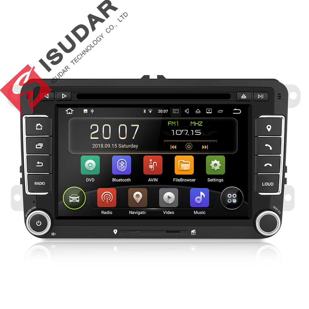 Isudar 2 Din Auto Radio Android 9 Für VW/Golf/Tiguan/Skoda/Fabia/Schnelle/Sitz /Leon/Skoda Auto Multimedia Video Player GPS DVD DVR