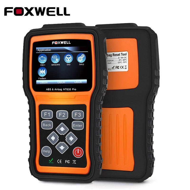 FOXWELL NT630 Pro OBD2 Diagnostic Car Scanner Engine ABS Airbag SRS SAS Crash Data Reset OBDII Auto OBDII Reader Scanner Tool