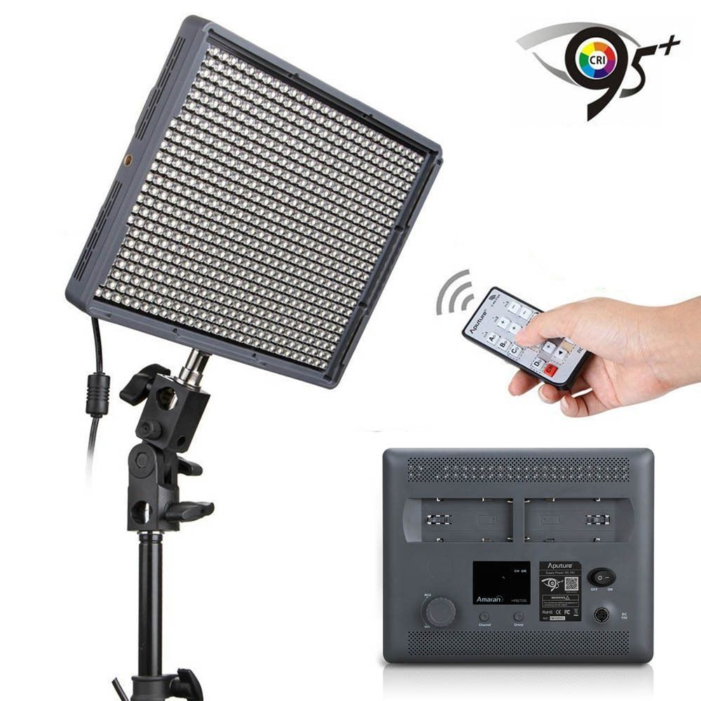 Aputure Amaran HD DV Video LED Light HR672S CRI95+ Professional Photographic Camera Camcorder Light with Wireless Remote Control