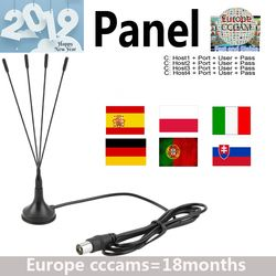 2019 Full HD Cccams 4lines panel 1 Year for Europe spain portugal ect