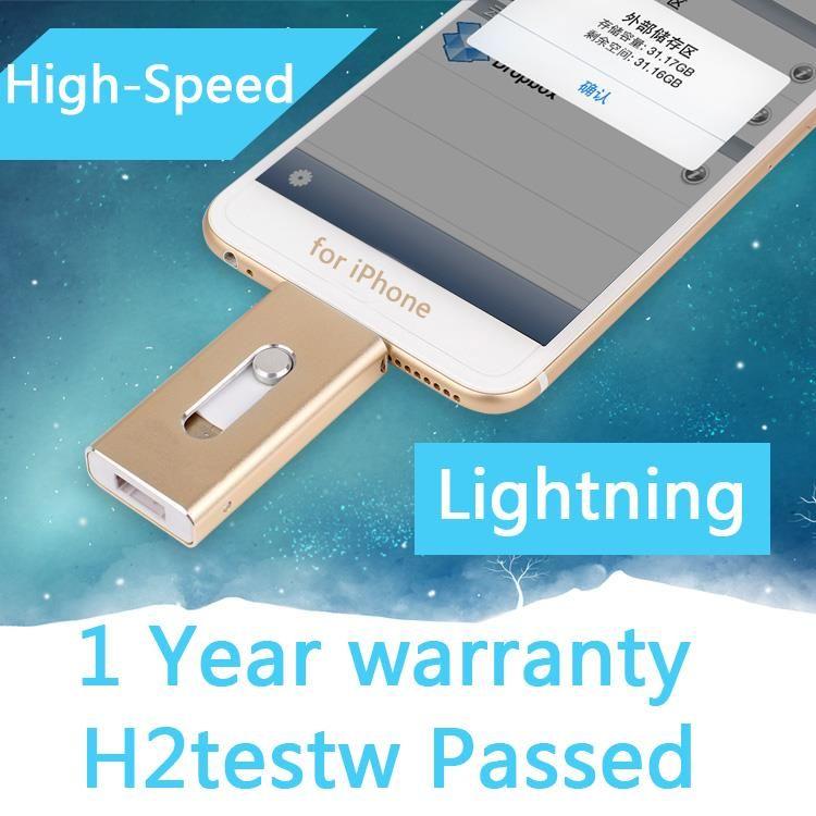 1 An de Garantie Usb Cadeau Clé usb 32 GB 64 GB Foudre Otg Usb Flash Drive 512 GB 1 TB 2 TB Pour IPhone 5S/6 s/6/7 Plus/8/Ipad
