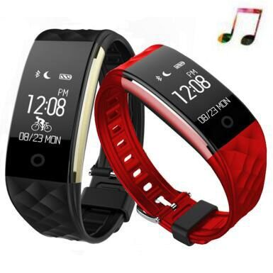 Nouvelle bande intelligente S2 Bracelet intelligent fréquence cardiaque Mp3 Bracelet intelligent podomètre Fitness activité Tracker Pk miband 3 Pk xiaomi bande 3