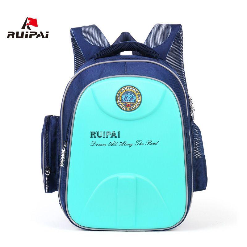 RUIPAI Backpack For Children Safety Reflective Design Hard Shell School Bag Orthopedic Satchel Rucksack For Girls Boys Kids