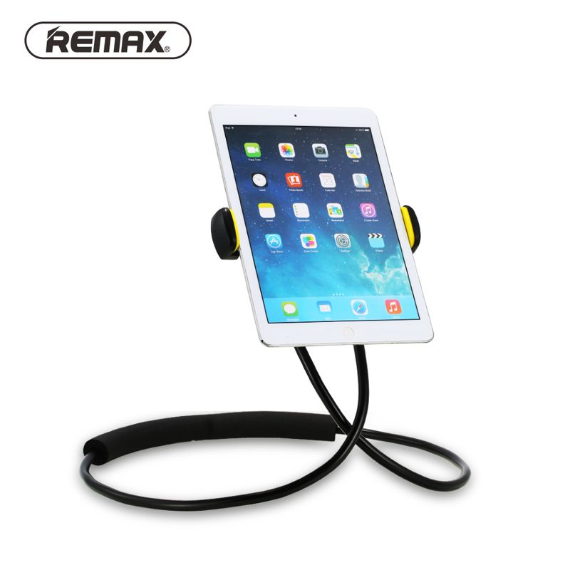Remax Lazy Bracket Rotation Flexible Phone Holder 360 Degree Flexible Neck Hanging With Shcokproof Bubble For iPhone tablet