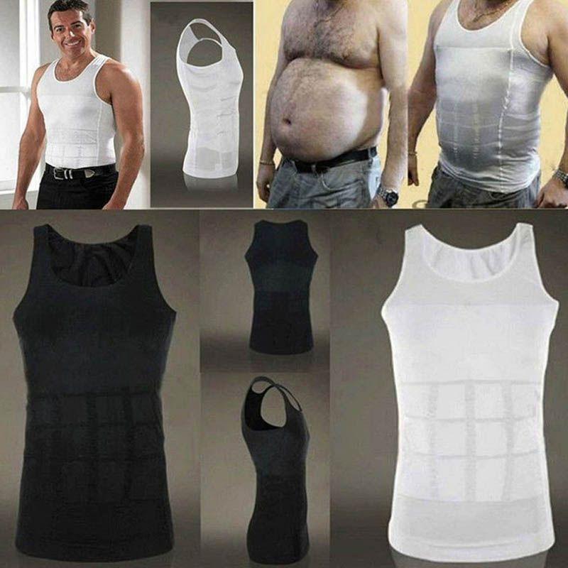 2018 hommes minceur corps Shaper ventre Shaper gilet sous-vêtements amincissants Corset taille Muscle ceinture chemise gros brûlage