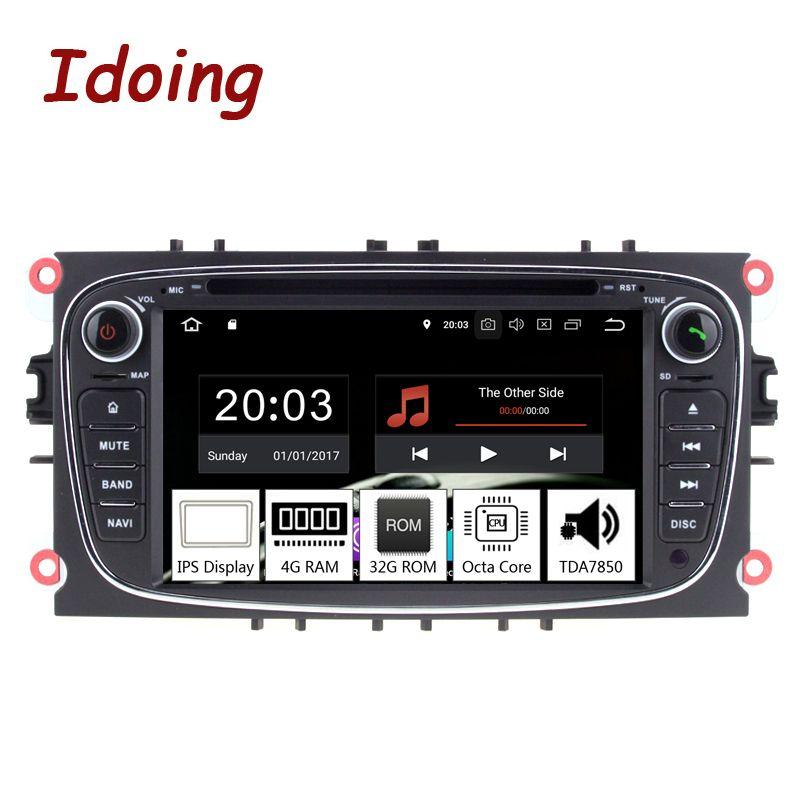 Idoing 7 2Din Andriod 8,0 Auto Radio DVD-Multimedia-Player Für Ford Focus Mondeo PX5 4 GB RAM 32G ROM 8 Core IPS GPS Navigation