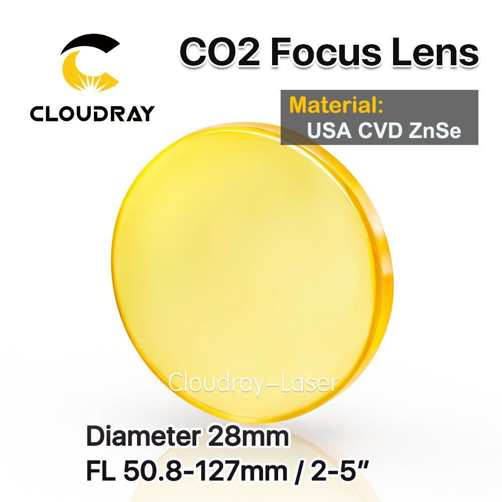 Cloudray USA CVD ZnSe Fokus Lens Dia. 28mm FL 50,8/63,5/127mm 2/2. 5/5
