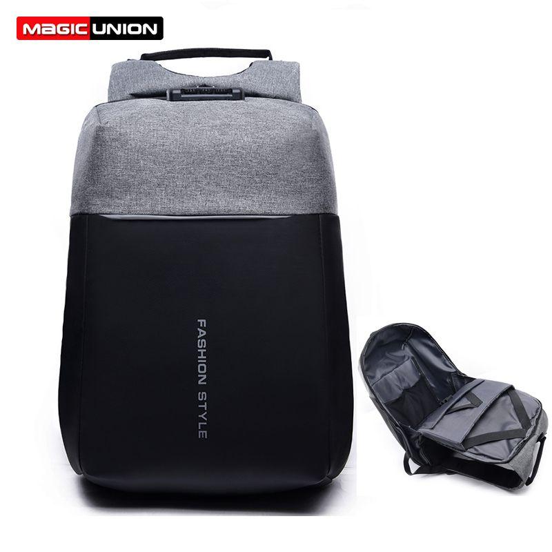 MAGIC UNION sac antivol voyage sac à dos femmes grande capacité USB Charge sac à dos pour ordinateur portable pour homme collège école sac à bandoulière