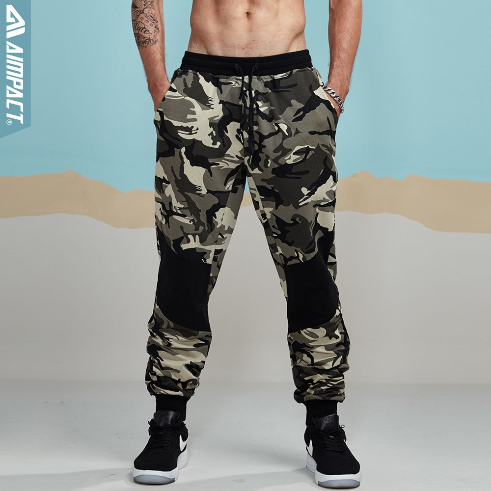 Aimpact 2017 New Camouflage Jogger Pants Men Fitted Active Cotton Sweatpants Male Track Pants Patchwork Casual Pants Man AM5006