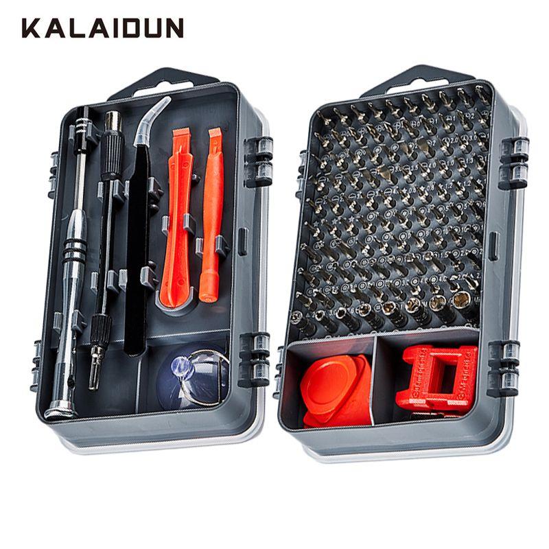 KALAIDUN ensemble de tournevis 112 en 1 embout de tournevis magnétique Torx Multi Kit d'outils de réparation de téléphone portable outil à main de dispositif électronique