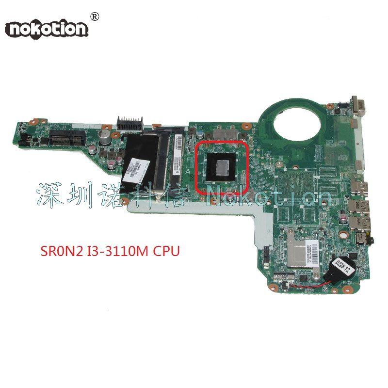NOKOTION 729843-501 729843-001 DAR62CMB6A0 laptop motherboard for hp Pavilion 15 17 15-E 17-E SR0N2 I3-3110M onboard HM76 DD3