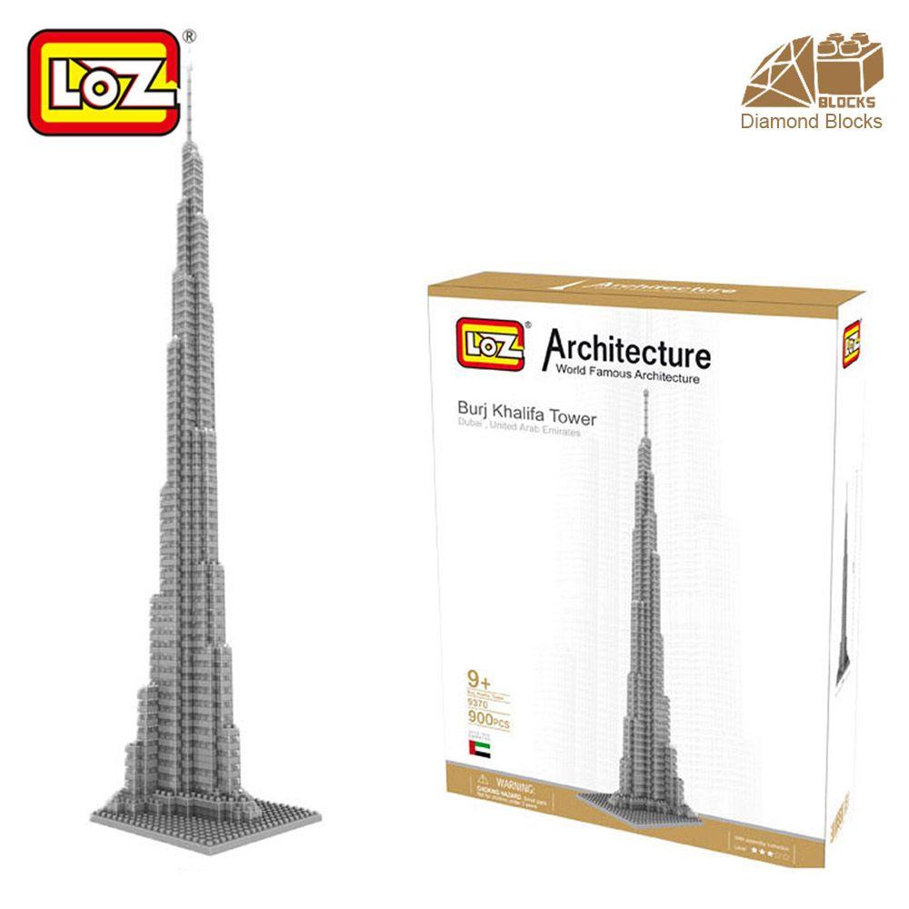 Monsieur. Froger LOZ Burj Khalifa Tour Haute Bloc De Diamant Monde Célèbre Architecture Série Jouet Briques Blocs de construction Maison Modèle ville