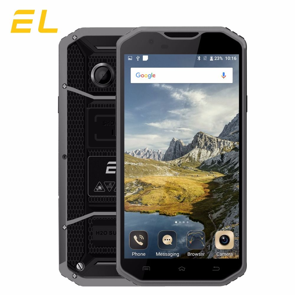 Original EL W8 4G Mobile Phone 5.5 Inches HD 2GB Ram 16GB Rom Phones Android 6.0 Shockproof Waterproof Unlocked Cellphone Lte