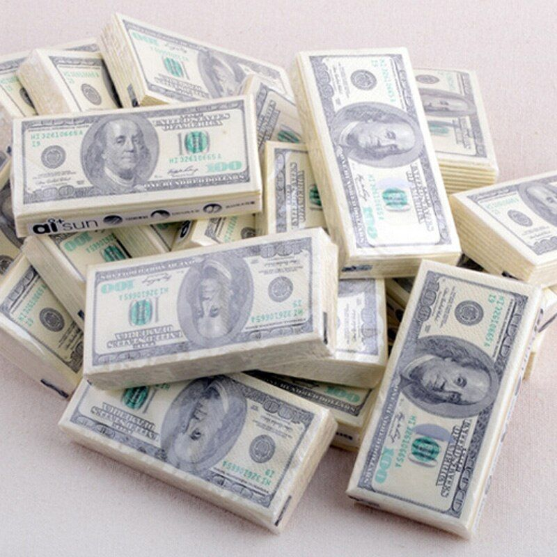 Dollar banknote paper towels tissue paper towels creative personality printing rolls tissue paper handkerchiefs dollar