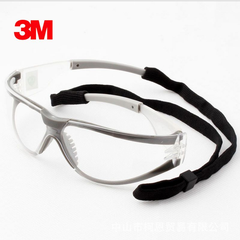3 M 11394 lunettes de sécurité lunettes Anti-buée antisable coupe-vent Anti-poussière résistant Transparent lunettes de protection lunettes de travail
