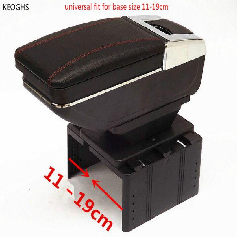 High-capacity universal car armrest PU Multi-function universal armrest retractable armrests fit for Base wide 11-19.5CM