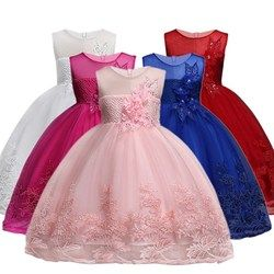 Flower Girls dresses for New Year clothes Party Baby Girls Sleeveless Big Bow Princess Wedding Dress Children Party Vestidos