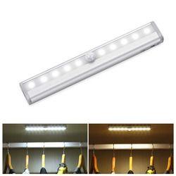 Carbinet Light Infrared PIR Motion Sensor LED  Auto On/Off Battery Operated Night Light Closet Wardrobe Lamp Pathway Kitchen Luz