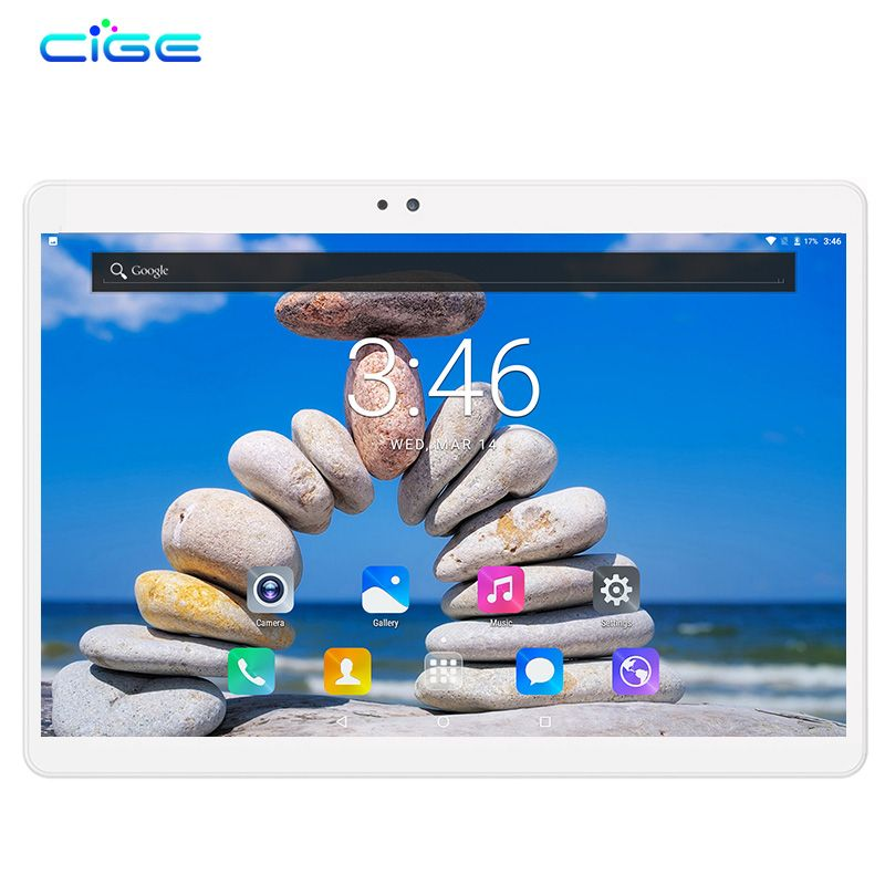 CIGE Phablet 10.1 Inch Android 7.0 Octa Core 4GB+64GB Dual Cameras SIM Card 3G LTE Tablets Mobile Tactile Tablet Pc WIFI GPS