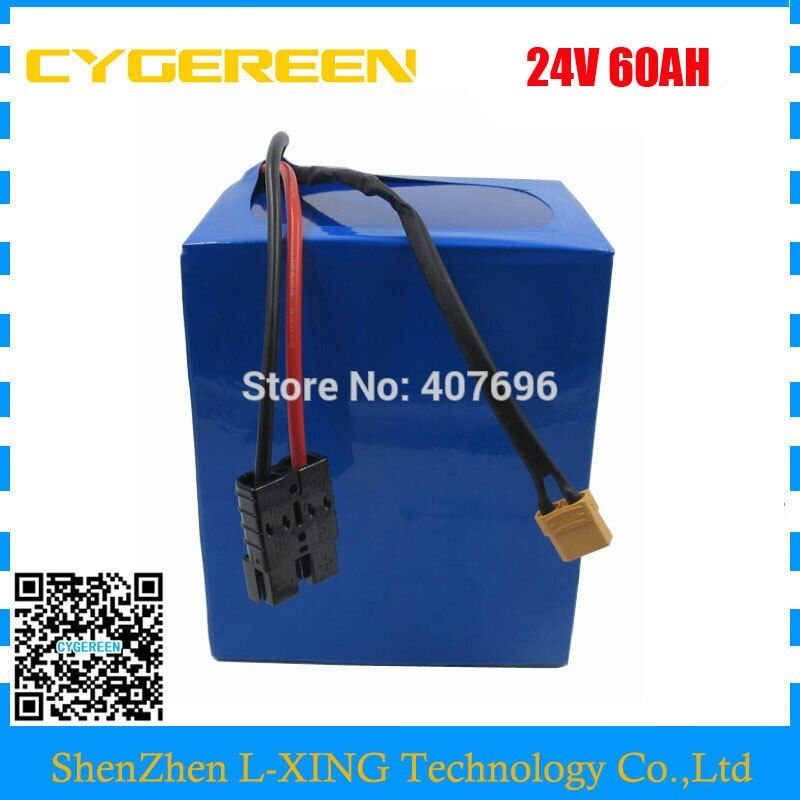1000W 24V 60AH Electric Bike battery 24V Lithium ion battery 3.7V 5AH 26650 Cell 50A BMS with 5A Charger Free customs tax