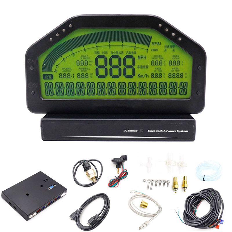 9000 rpm Rally Gauge Auto Dash Rennen Display Gauge SENSOR KIT Dashboard LCD Bildschirm Wasserdichte Hohe Genauigkeit