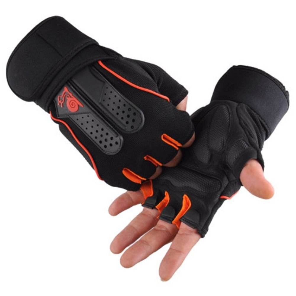 Men's Weight Lifting Gym Fitness Workout Training Exercise Half Gloves Best Price