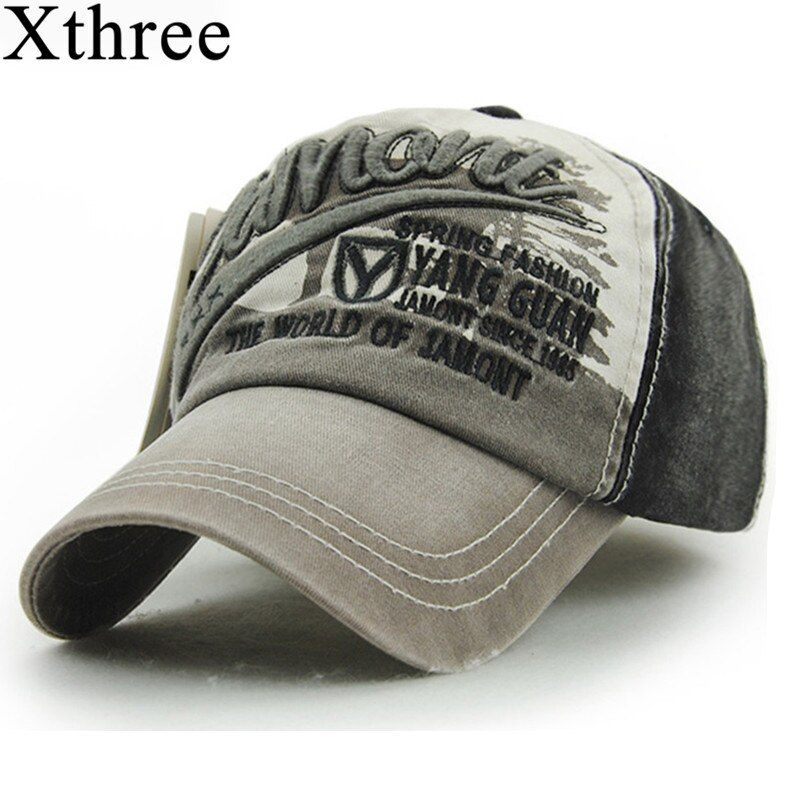 Xthree Wholesale fashion Letter embroidery baseball cap Cotton Casual swag cap hip hop snapback Hat for men Baseball Cap women