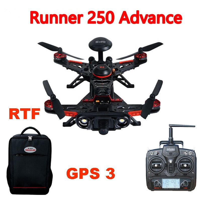 Walkera Runner 250 Advance Runner 250(R) GPS System RC Quadcopter with DEVO 7 /OSD/Camera/Backpack RTF GPS 3 Version