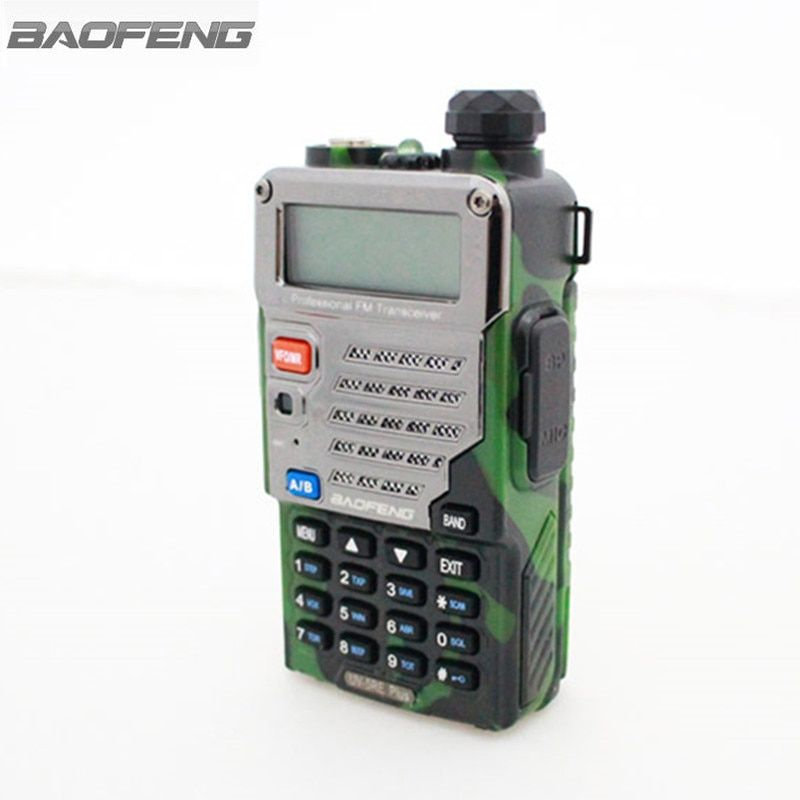 BaoFeng UV-5RE+Plus Walkie Talkie Camouflage Red Blue Dual Band 136-174&400-520MHz Ham Amateur Two Way Radio For Hunting Trucker