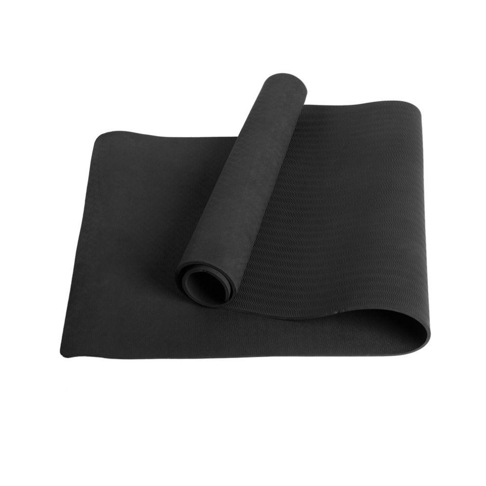 Single Layer Dauerhaft Hohe Dichte Umweltfreundliche Anti-rutsch Ungiftig Übung TPE Yogamatte für Yoga Pilates kostenloser versand