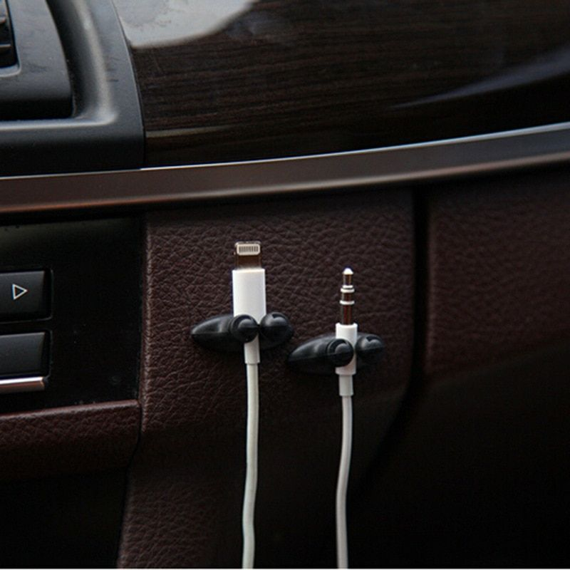 Car Cable Clips Multifunctional Adhesive Car Charger Line Clasp Clamp Headphone USB Cable Clip Auto Interior Accessories 8PCS