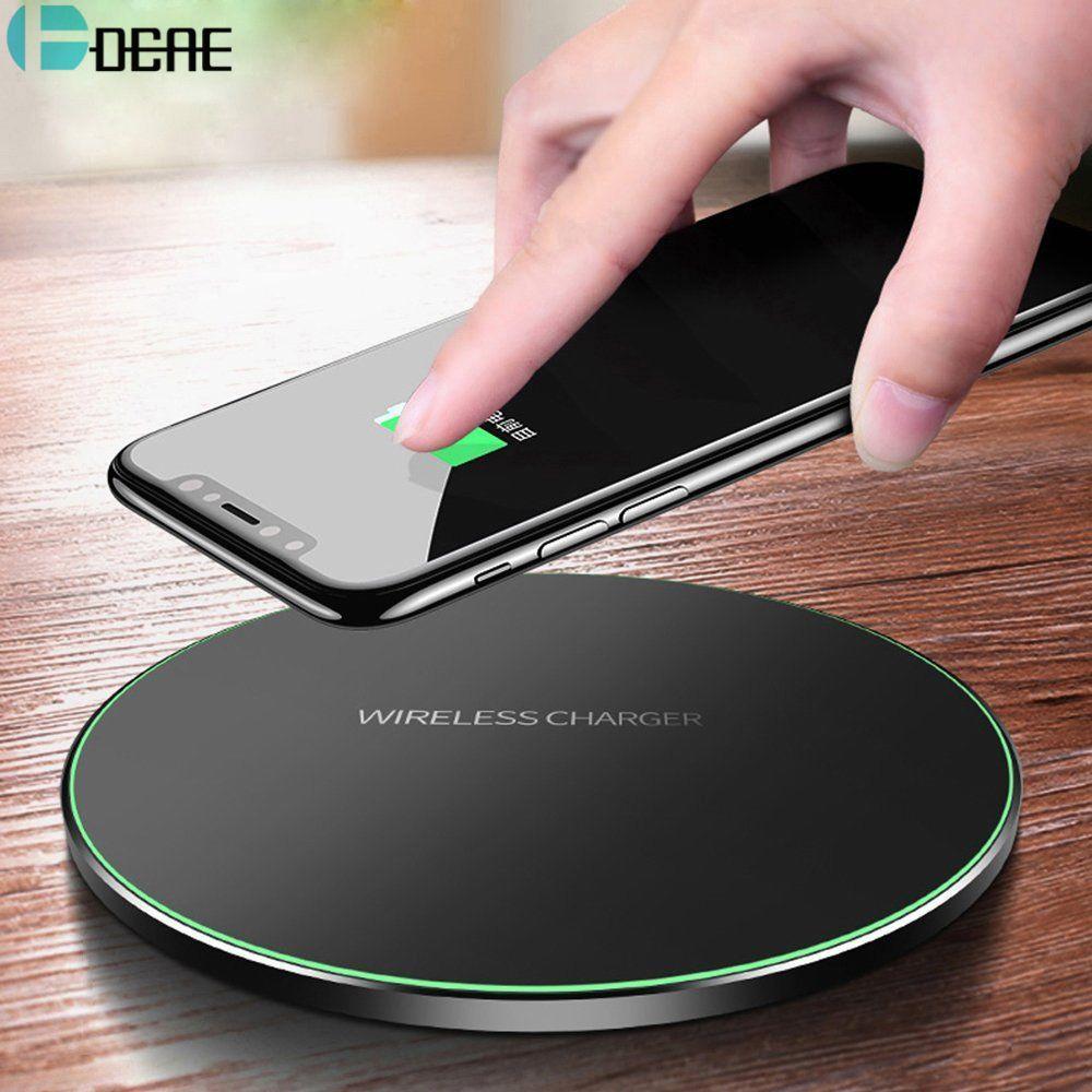 DCAE Qi Sans Fil Chargeur Pour iPhone 8 X XR XS Max QC3.0 10 w Rapide Sans Fil De Charge pour Samsung S9 s8 Note 8 9 S7 USB Chargeur Pad