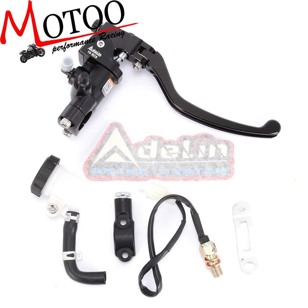 Motoo - Motorcycle 19RCS Brake Adelin Master Cylinder Hydraulic FOR HONDA R1 R3 R6 FZ6 GSXR600 750 1000 NINJA250 ZX-6R Z750 Z800
