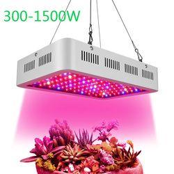 300 W 600 W 800 W 1200 W 1500 W LED crecer luz espectro completo planta de interior hidropónico lámpara AC85-265V verduras y floración de alto rendimiento