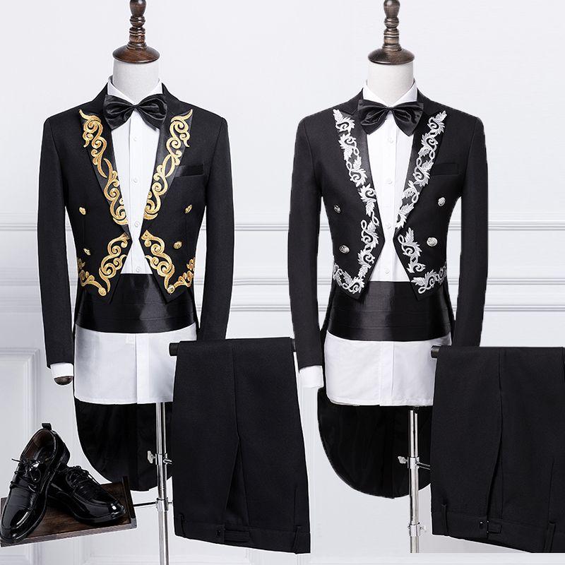Schlanken anzüge herren anzüge befehlen bühne zaubern smoking anzug (jacke + pants + tie + gürtel) TB71122