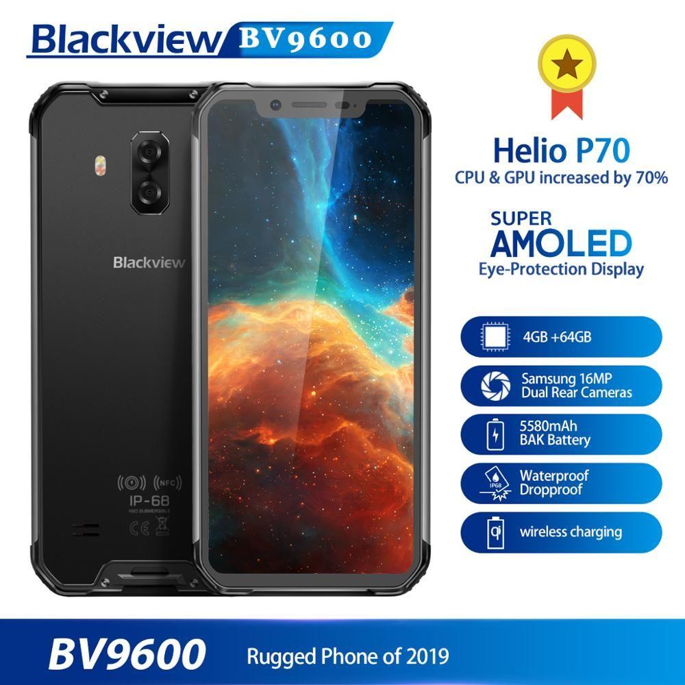 2019 neue Blackview BV9600 Robuste Smartphone Android 9.0 4GB + 64GB Wasserdichte Handy Helio P70 6,21