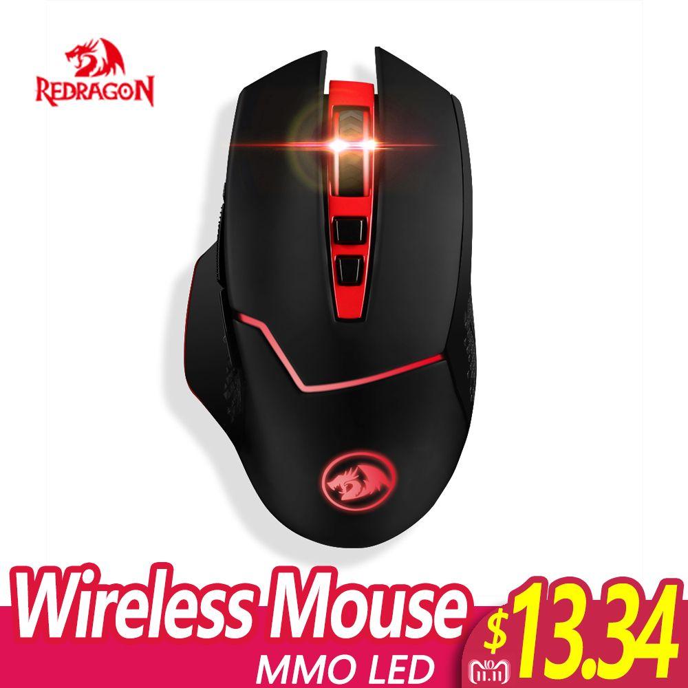 Redragon Professionnel Sans Fil Gaming Mouse 8 Boutons Souris pour MMO Pro Les Joueurs PC Ordinateur Portable