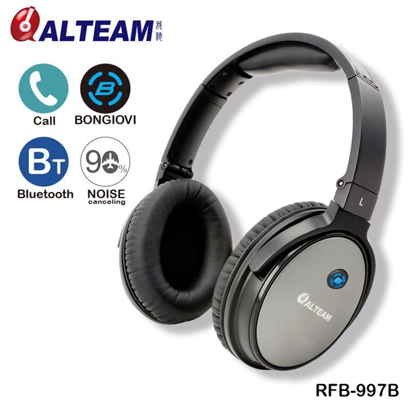 Beste Neue Freisprecheinrichtung Stereo Bass Musik Über Ohr Drahtlose Anti Lärm Kopfhörer Headset Bluetooth Active Noise Cancelling mit Mic