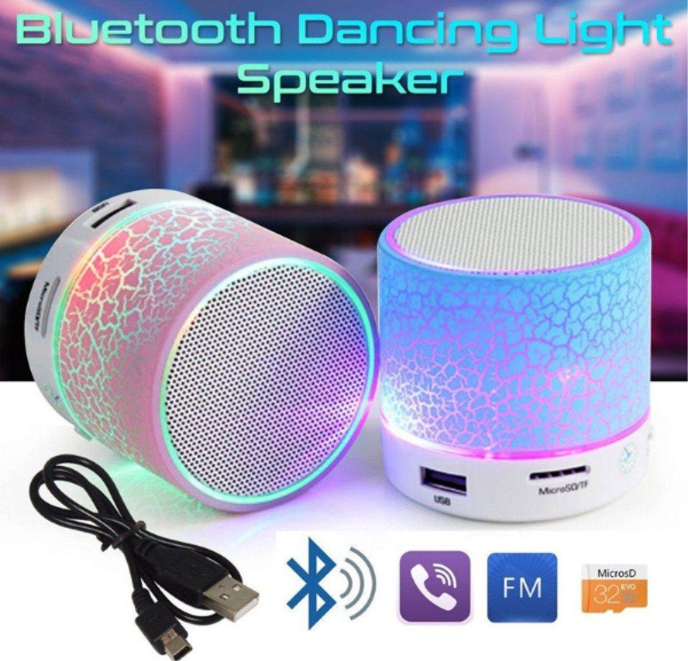 LED Портативный Mini Bluetooth Колонки Беспроводной Hands Free Динамик с TF USB FM микрофон музыкальный для мобильного телефона iPhone 6S 7