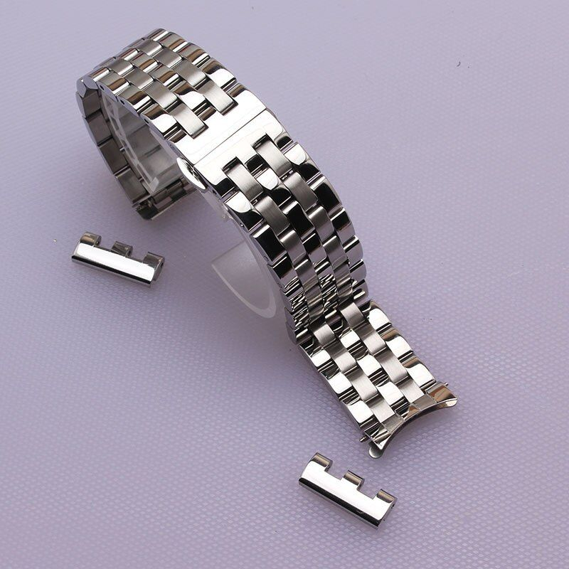 16mm 18mm 20mm 22mm New High Quality Watch Band Strap with free curved ends fashion watch accessories bracelet watchband men hot