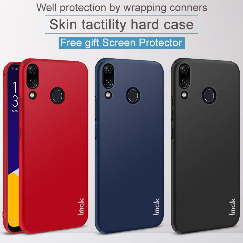 Asus Zenfone 5 ZE620KL Case IMAK Jazz Slim Hard Plastic PC Cover Case For Asus Zenfone 5Z ZS620KL Cases Gift Screen Protector