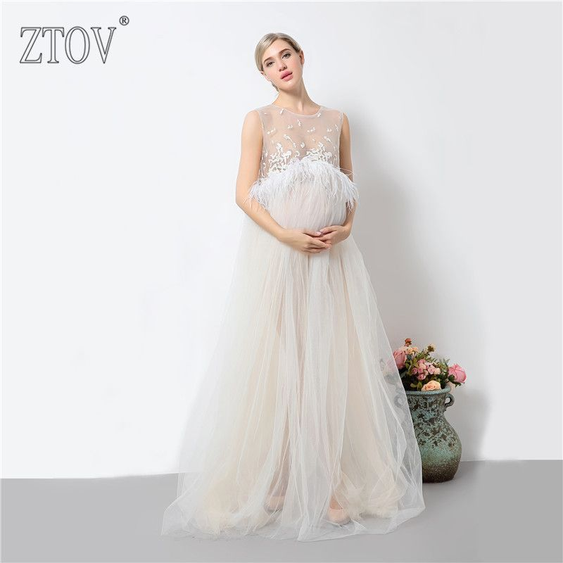 ZTOV 2017 Pregnancy Photo Shoot Maternity Maxi dresses Maternity Photography Props Pregnant Dress Pregnancy Voile Clothes