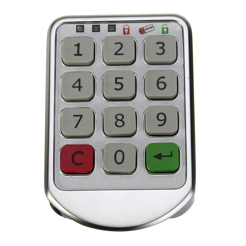 Silver Metal Digital Electronic Password Keypad Number Cabinet Code Locks Intelligent Cabinet Lock