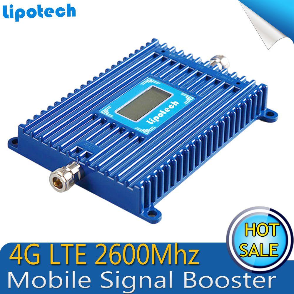 Lcd display 1000 platz abdeckung 4G LTE Signalverstärker Verstärkung 70dB 4G LTE 2600 Mhz Signal Booster Repeater