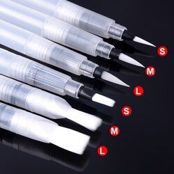 6 PCS Portable Pinceau Couleur de L'eau Brosse Crayon Doux Aquarelle Brosse Stylo pour Débutant Peinture Dessin Art Fournitures