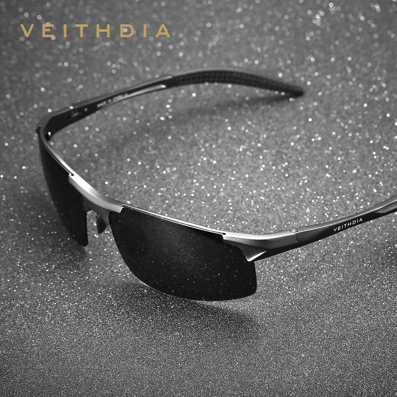 VEITHDIA Marque Designer En Aluminium Hommes lunettes de Soleil lunettes de soleil polarisées accessoires lunettes Pour Hommes oculos de sol masculino 6518