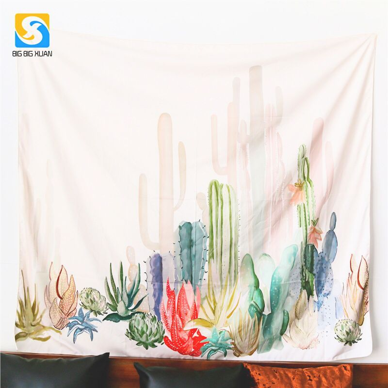 2 Size mandala Wall Hanging Cactus Tapestry Cover Beach Towel Throw Blanket Picnic Yoga Mat Home Decoration Textiles