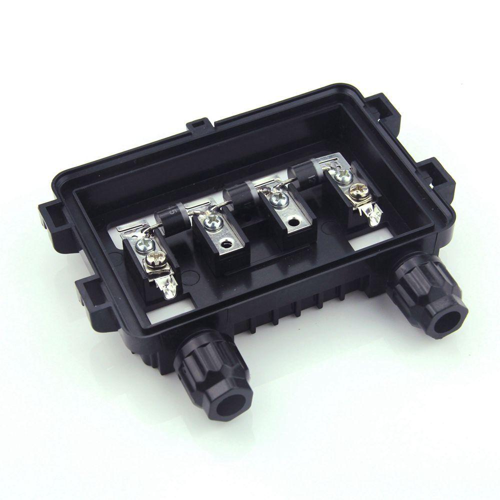 1 pièces 100 W-180 W IP65 électrique PV panneau solaire boîte de jonction étanche câble solaire boîte de connexion pour connexion de fil