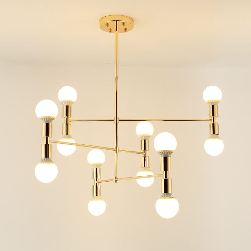 Gold Metal Body Chandelier Modern Light Fixtures For Dining Room Living Room Chandelier Lighting lustre lamparas colgantes